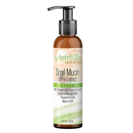 Lyfetrition Snail Mucin Serum with 98% Snail Mucin Extract