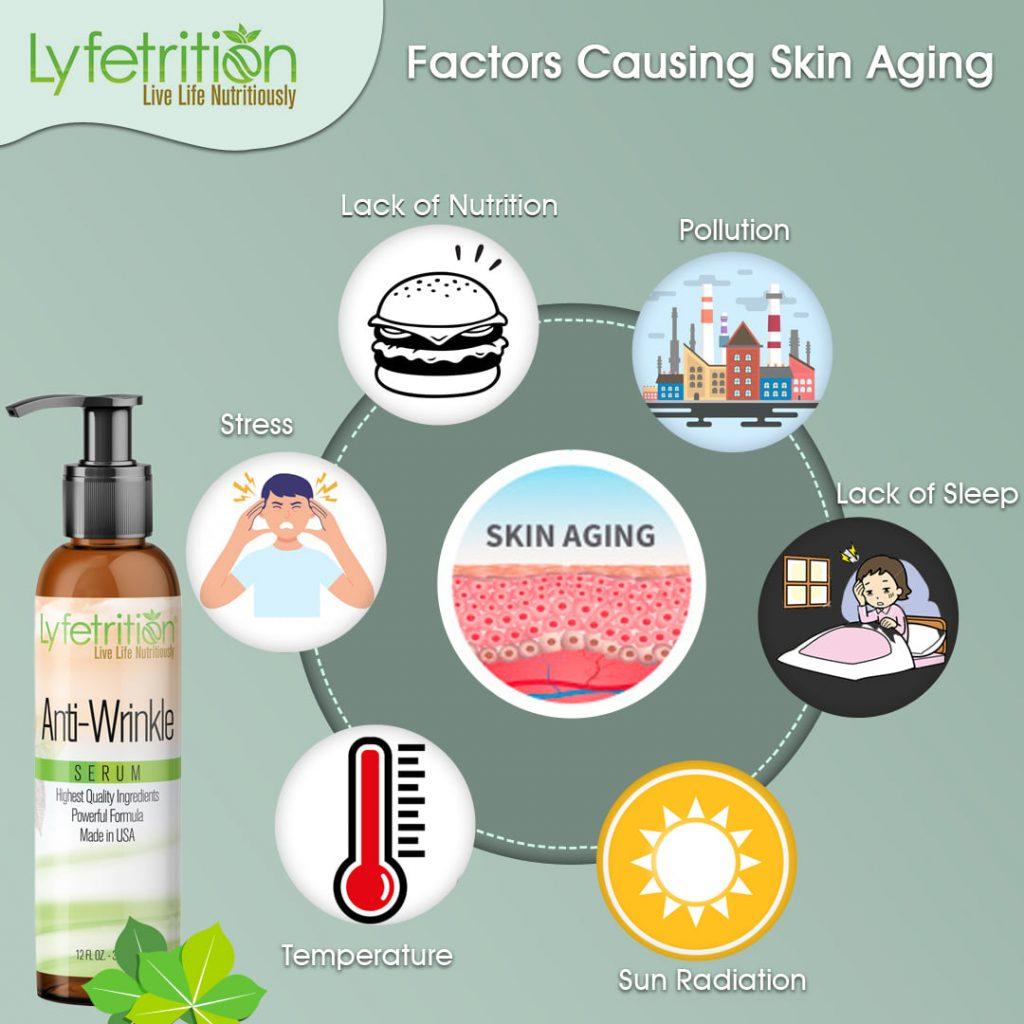 factors causing skin aging